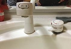 ①水栓正面を入れる