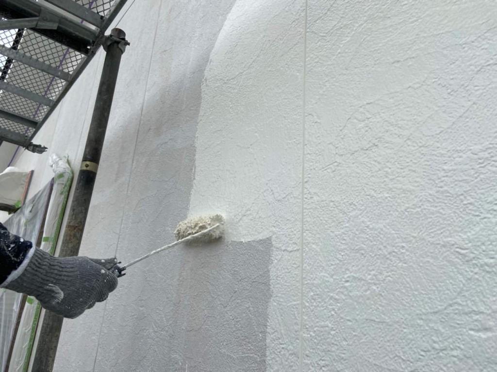 汚れの付きにくい無機フッ素塗料を採用!外壁塗装・バルコニー防水工事!