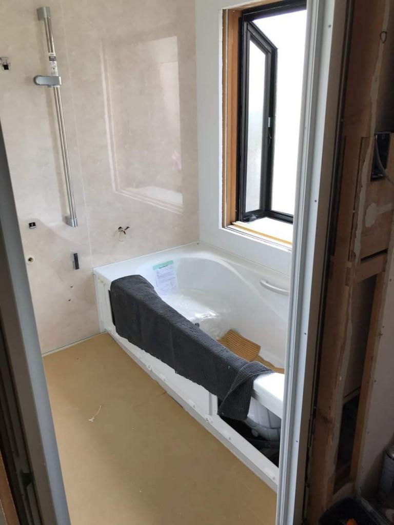 人造大理石浴槽のユニットバス!浴室洗面所トイレリフォーム工事!