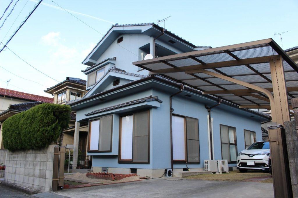 爽やかなブルーグレイの外観!LDK外壁塗装工事!