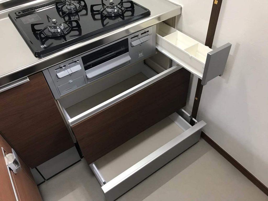 コンパクト&たっぷり収納のL型キッチン!浴室洗面所キッチン工事!